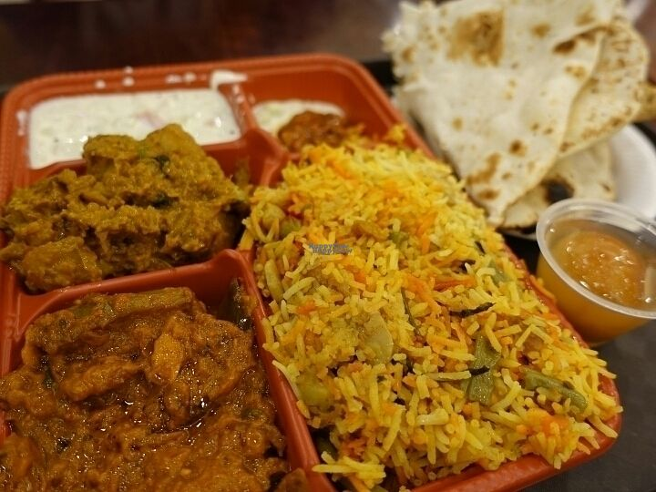 """Photo of Komala's Restaurant - Jurong Point  by <a href=""""/members/profile/JimmySeah"""">JimmySeah</a> <br/>north Indian thali - briyani rice and naan <br/> September 25, 2016  - <a href='/contact/abuse/image/36268/177861'>Report</a>"""