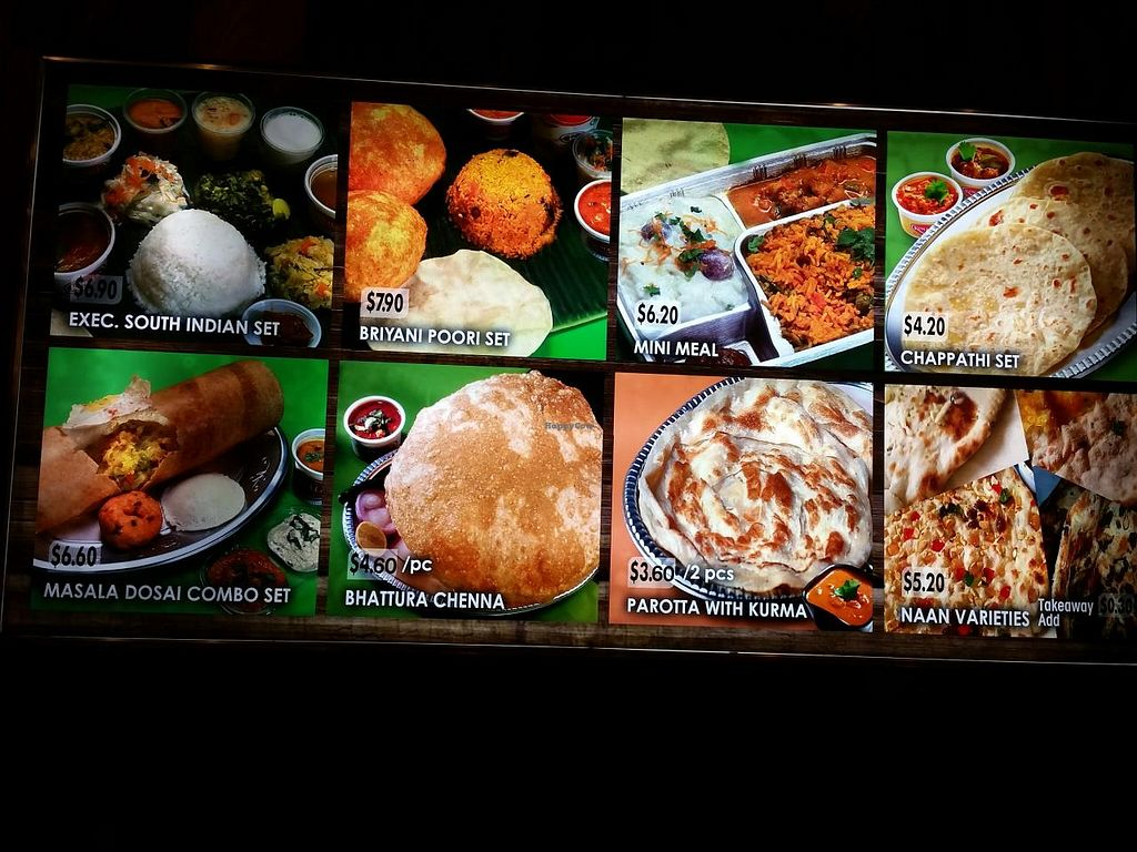 """Photo of Komala's Restaurant - Jurong Point  by <a href=""""/members/profile/JimmySeah"""">JimmySeah</a> <br/>food menu <br/> December 27, 2014  - <a href='/contact/abuse/image/36268/88780'>Report</a>"""