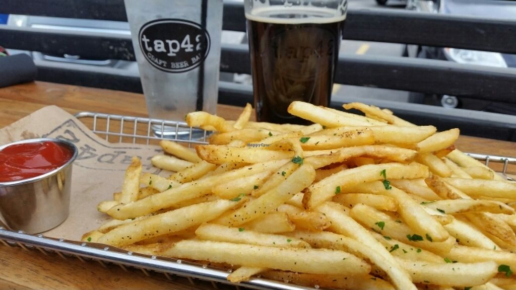 "Photo of Tap 42 Bar and Kitchen   by <a href=""/members/profile/EverydayTastiness"">EverydayTastiness</a> <br/>crispy fries vegan <br/> January 18, 2016  - <a href='/contact/abuse/image/36308/132905'>Report</a>"