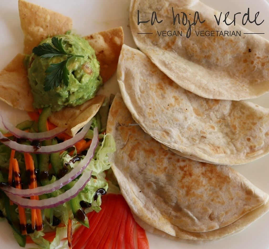 """Photo of La Hoja Verde  by <a href=""""/members/profile/LaHojaVerde"""">LaHojaVerde</a> <br/>Quesadillas <br/> June 1, 2017  - <a href='/contact/abuse/image/36309/264898'>Report</a>"""