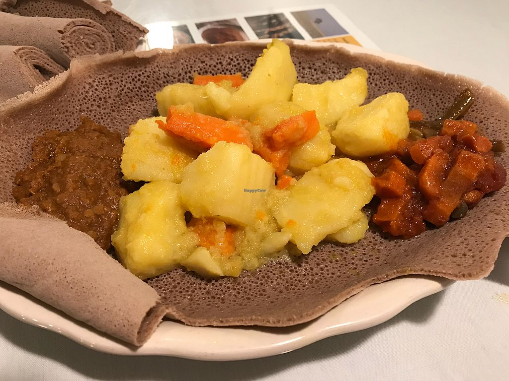 "Photo of Abyssinia Ethopian Restaurant  by <a href=""/members/profile/RMihalcik"">RMihalcik</a> <br/>Potato and Carrot dish with injera (comes with 2 sides) <br/> April 18, 2018  - <a href='/contact/abuse/image/36314/387427'>Report</a>"