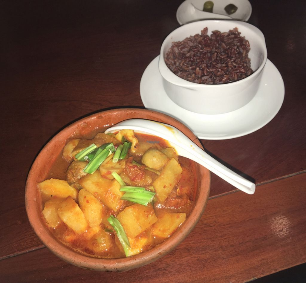 """Photo of Hum Vegetarian - District 3  by <a href=""""/members/profile/HollyCow"""">HollyCow</a> <br/>young jicama wit tofu in clay pot VND 90 <br/> August 1, 2016  - <a href='/contact/abuse/image/36320/164122'>Report</a>"""