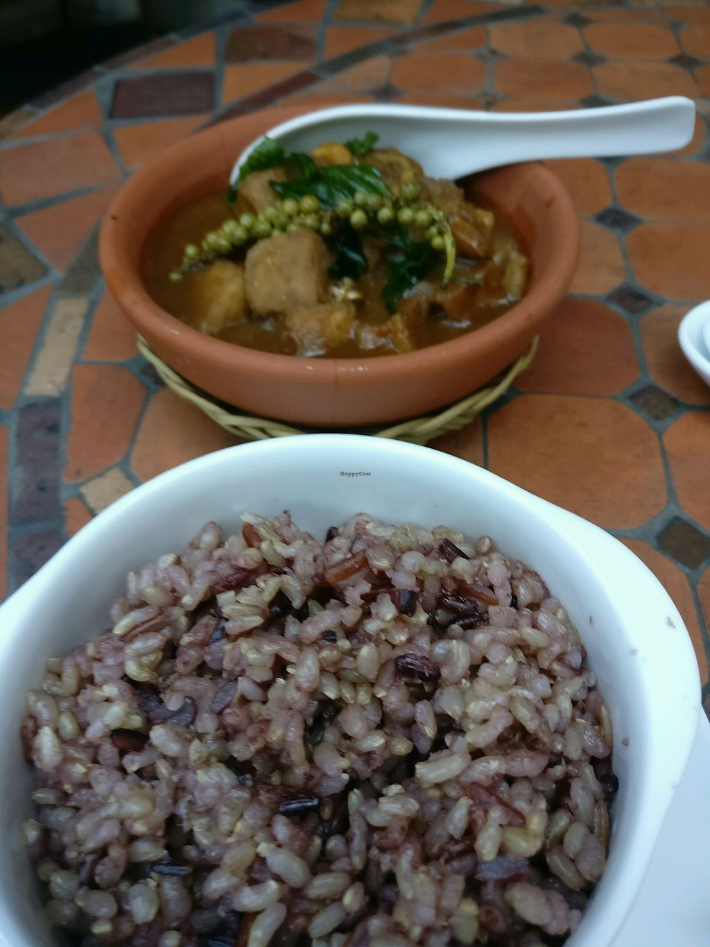 """Photo of Hum Vegetarian - District 3  by <a href=""""/members/profile/cdnvegan"""">cdnvegan</a> <br/>Taro with lemongrass and a side of brown rice <br/> February 24, 2018  - <a href='/contact/abuse/image/36320/363134'>Report</a>"""