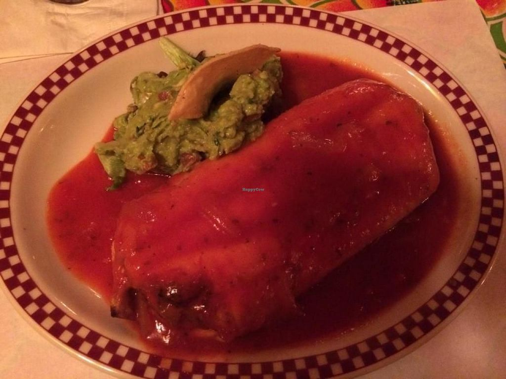 "Photo of Red Iguana  by <a href=""/members/profile/Meggie%20and%20Ben"">Meggie and Ben</a> <br/>Veggie chimichanga <br/> August 16, 2014  - <a href='/contact/abuse/image/36366/77206'>Report</a>"