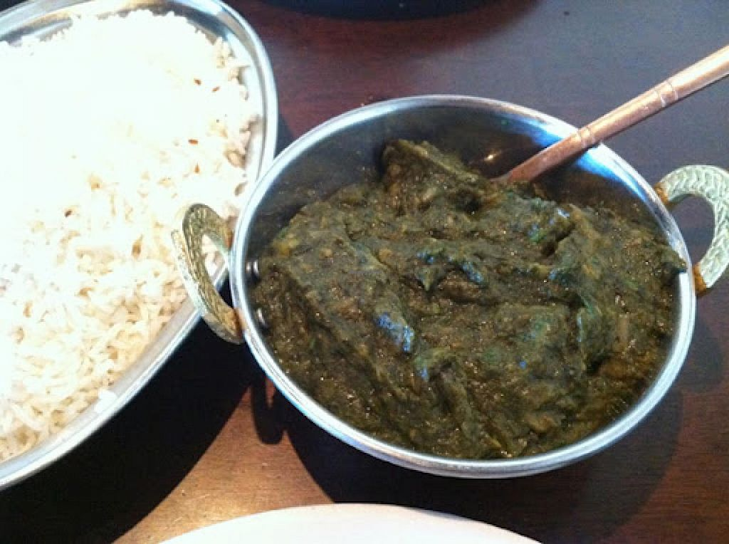 """Photo of India House  by <a href=""""/members/profile/Meggie%20and%20Ben"""">Meggie and Ben</a> <br/>Saag without cream <br/> January 4, 2015  - <a href='/contact/abuse/image/36401/89478'>Report</a>"""