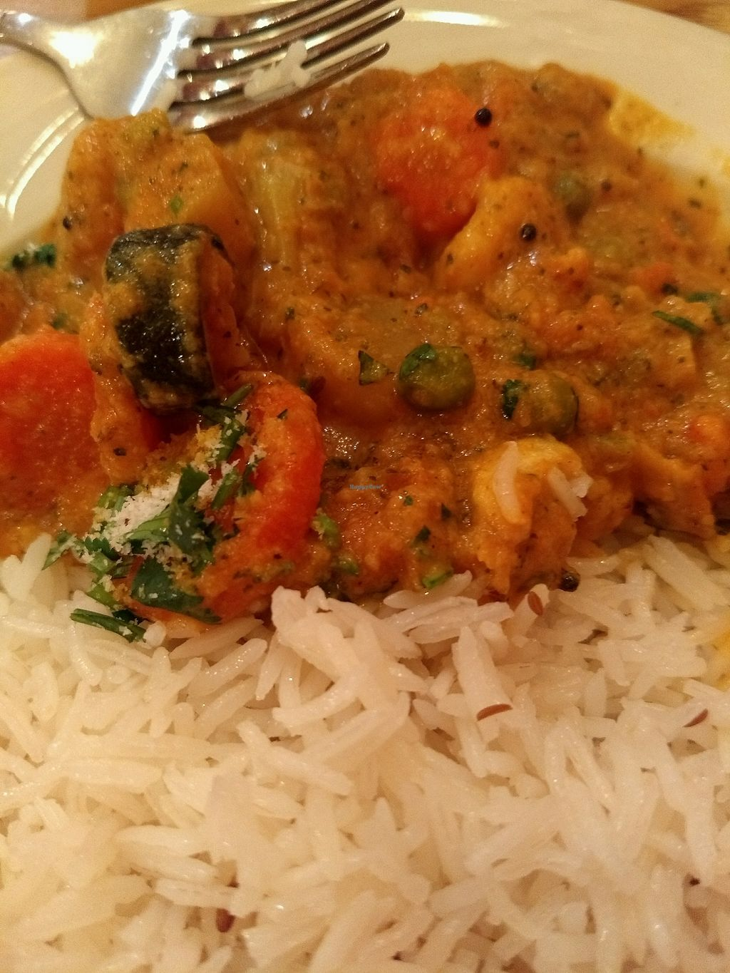 """Photo of Taste of India  by <a href=""""/members/profile/Ty%21"""">Ty!</a> <br/>Some sort of curry with long grain rice <br/> February 24, 2018  - <a href='/contact/abuse/image/36412/363025'>Report</a>"""