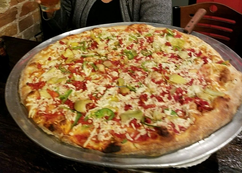 """Photo of The Lucky Slice - 25th St  by <a href=""""/members/profile/MollyMorrison"""">MollyMorrison</a> <br/>vegan pizza <br/> October 19, 2017  - <a href='/contact/abuse/image/36422/316710'>Report</a>"""