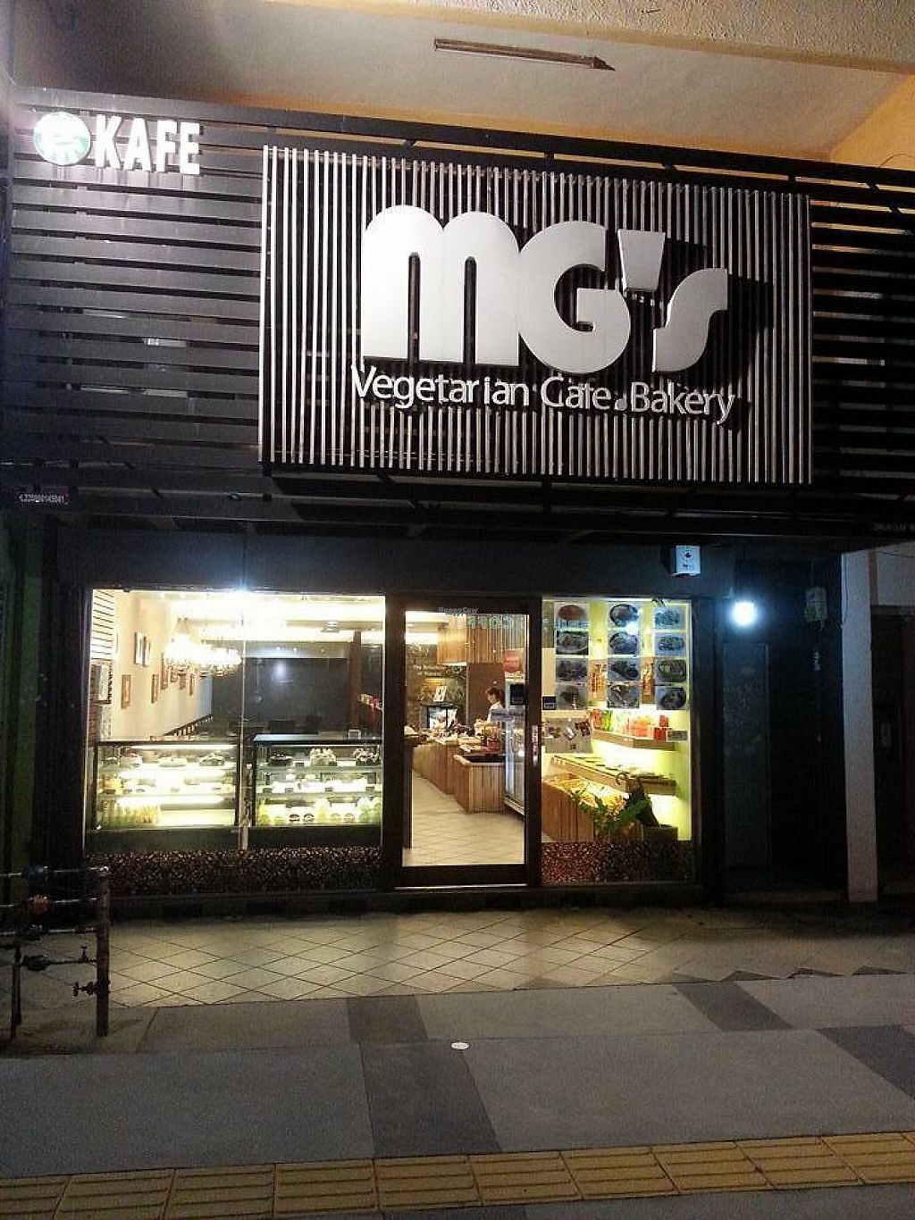Photo of MG's Vegetarian Cafe Bakery  by Raphael_Dane <br/>outside view of the place <br/> March 8, 2017  - <a href='/contact/abuse/image/36486/234252'>Report</a>