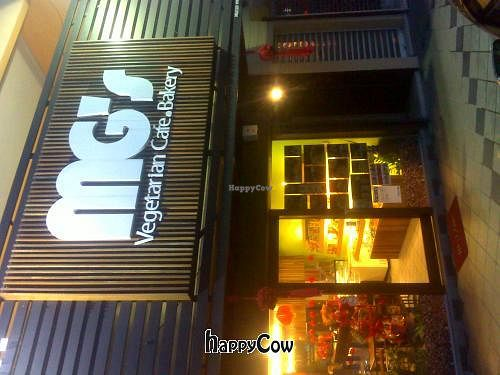 """Photo of MG's Vegetarian Cafe Bakery  by <a href=""""/members/profile/samden"""">samden</a> <br/>View from outside <br/> January 20, 2013  - <a href='/contact/abuse/image/36486/43206'>Report</a>"""