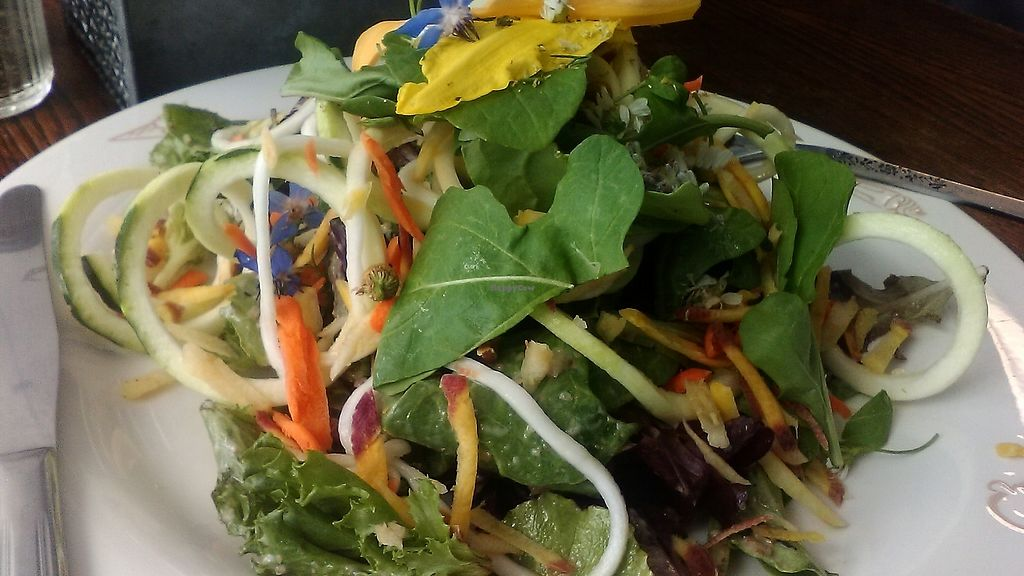 """Photo of Outdated - An Antique Cafe  by <a href=""""/members/profile/foodfirst"""">foodfirst</a> <br/>A salad special served recently at the cafe.  <br/> July 6, 2017  - <a href='/contact/abuse/image/36514/277007'>Report</a>"""