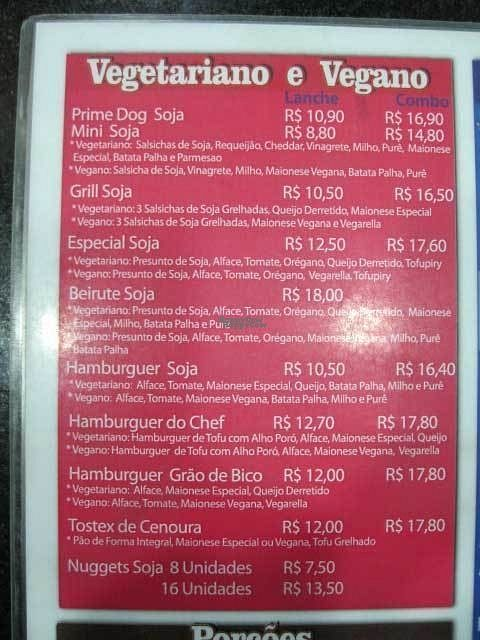 """Photo of Prime Dog - Vila Mariana  by <a href=""""/members/profile/Sylvane"""">Sylvane</a> <br/>Prime Dog vegan menu <br/> August 28, 2016  - <a href='/contact/abuse/image/36515/171966'>Report</a>"""
