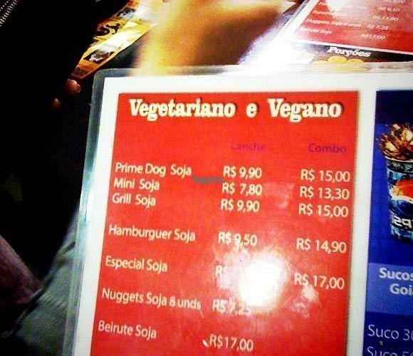 """Photo of Prime Dog - Vila Mariana  by <a href=""""/members/profile/Sylvane"""">Sylvane</a> <br/>Prime Dog vegan menu <br/> August 28, 2016  - <a href='/contact/abuse/image/36515/171967'>Report</a>"""