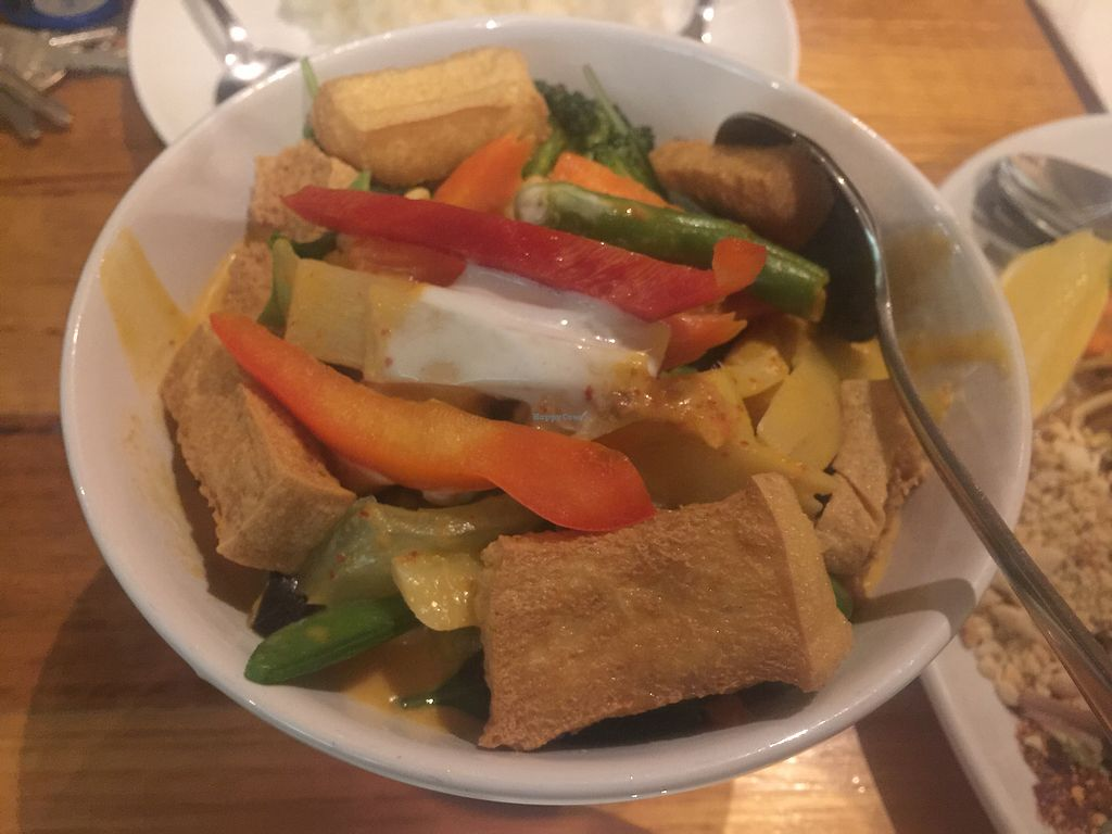 """Photo of Penn Thai  by <a href=""""/members/profile/Tiggy"""">Tiggy</a> <br/>Vegan Red Curry <br/> September 21, 2017  - <a href='/contact/abuse/image/36528/306653'>Report</a>"""
