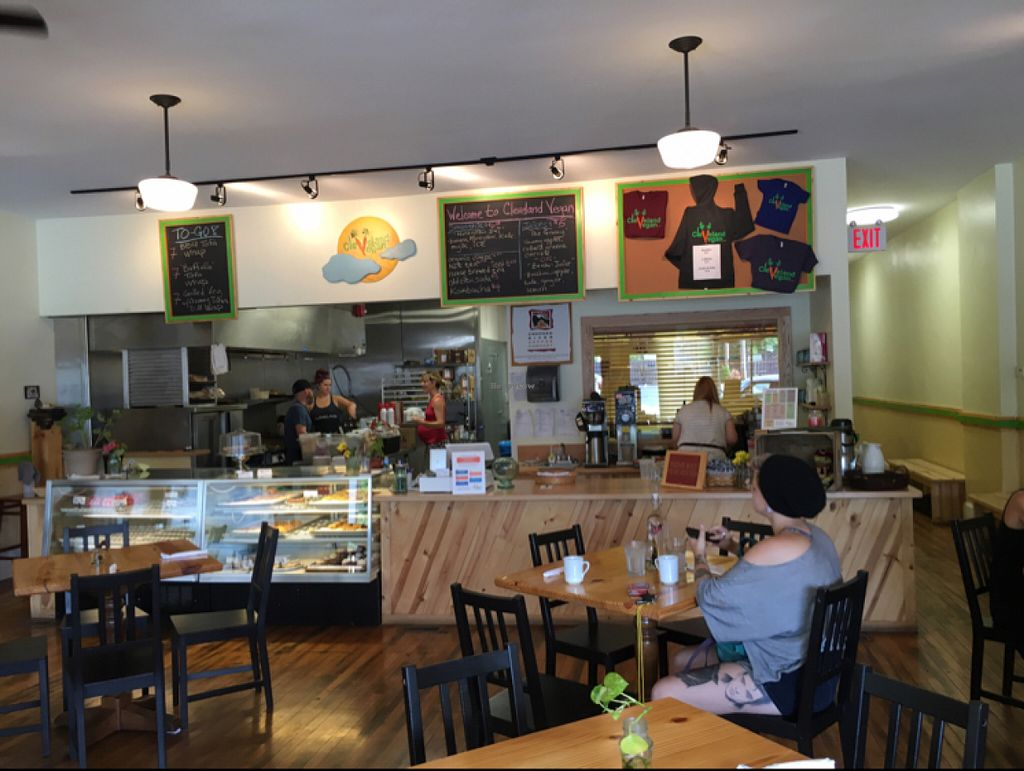 """Photo of Cleveland Vegan  by <a href=""""/members/profile/KashiTamang"""">KashiTamang</a> <br/>cute, spacious, kid friendly storefront  <br/> July 17, 2016  - <a href='/contact/abuse/image/36549/160432'>Report</a>"""