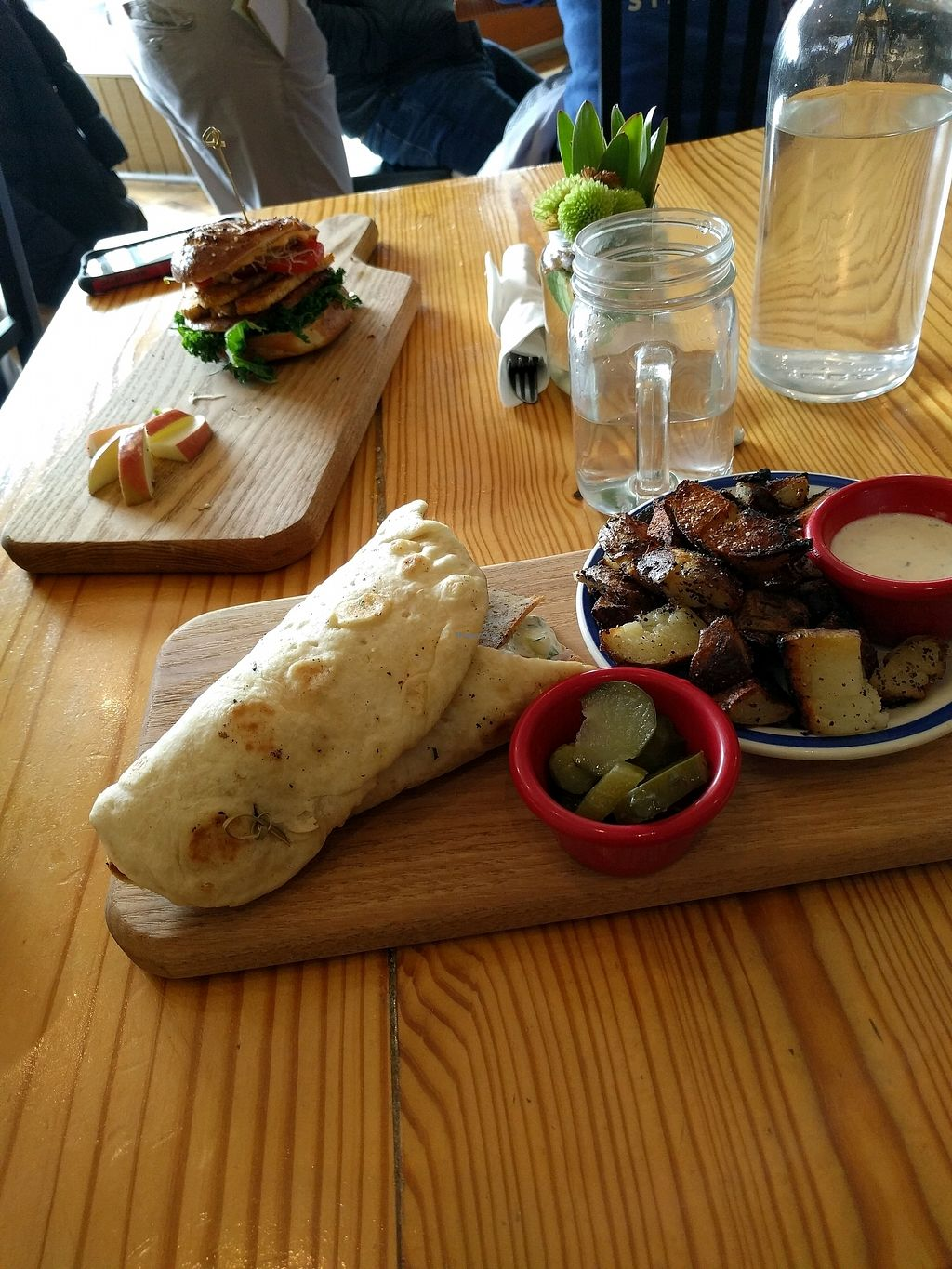 """Photo of Cleveland Vegan  by <a href=""""/members/profile/CookieCat"""">CookieCat</a> <br/>gyro and breakfast sandwich  <br/> December 14, 2017  - <a href='/contact/abuse/image/36549/335635'>Report</a>"""