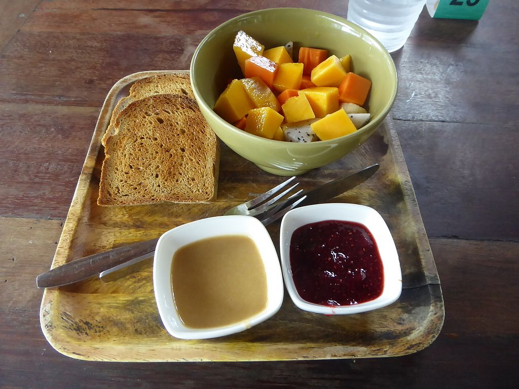 """Photo of Orion Cafe  by <a href=""""/members/profile/VeganNatascha"""">VeganNatascha</a> <br/>Fruit and Toast <br/> February 16, 2018  - <a href='/contact/abuse/image/36552/359939'>Report</a>"""