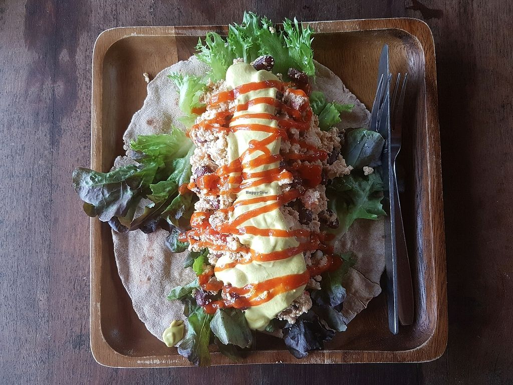 """Photo of Orion Cafe  by <a href=""""/members/profile/vegatleticas"""">vegatleticas</a> <br/>Vegan Burrito (Breakfast) <br/> March 9, 2018  - <a href='/contact/abuse/image/36552/368372'>Report</a>"""