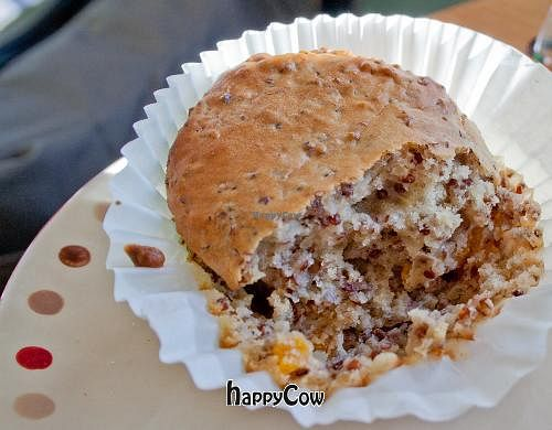 """Photo of Mead's Green Door Cafe  by <a href=""""/members/profile/spiceislandvegan"""">spiceislandvegan</a> <br/>Vegan Chia Seed muffin <br/> February 17, 2013  - <a href='/contact/abuse/image/36604/44324'>Report</a>"""