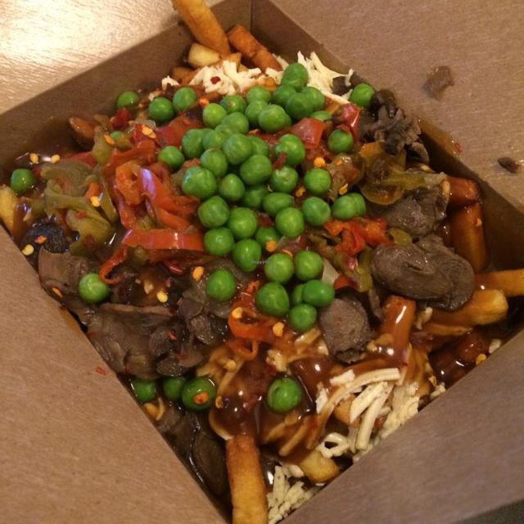 """Photo of The Big Cheese Poutinerie - 17 Ave  by <a href=""""/members/profile/AliRaven"""">AliRaven</a> <br/>vegan poutine <br/> August 17, 2014  - <a href='/contact/abuse/image/36665/77243'>Report</a>"""