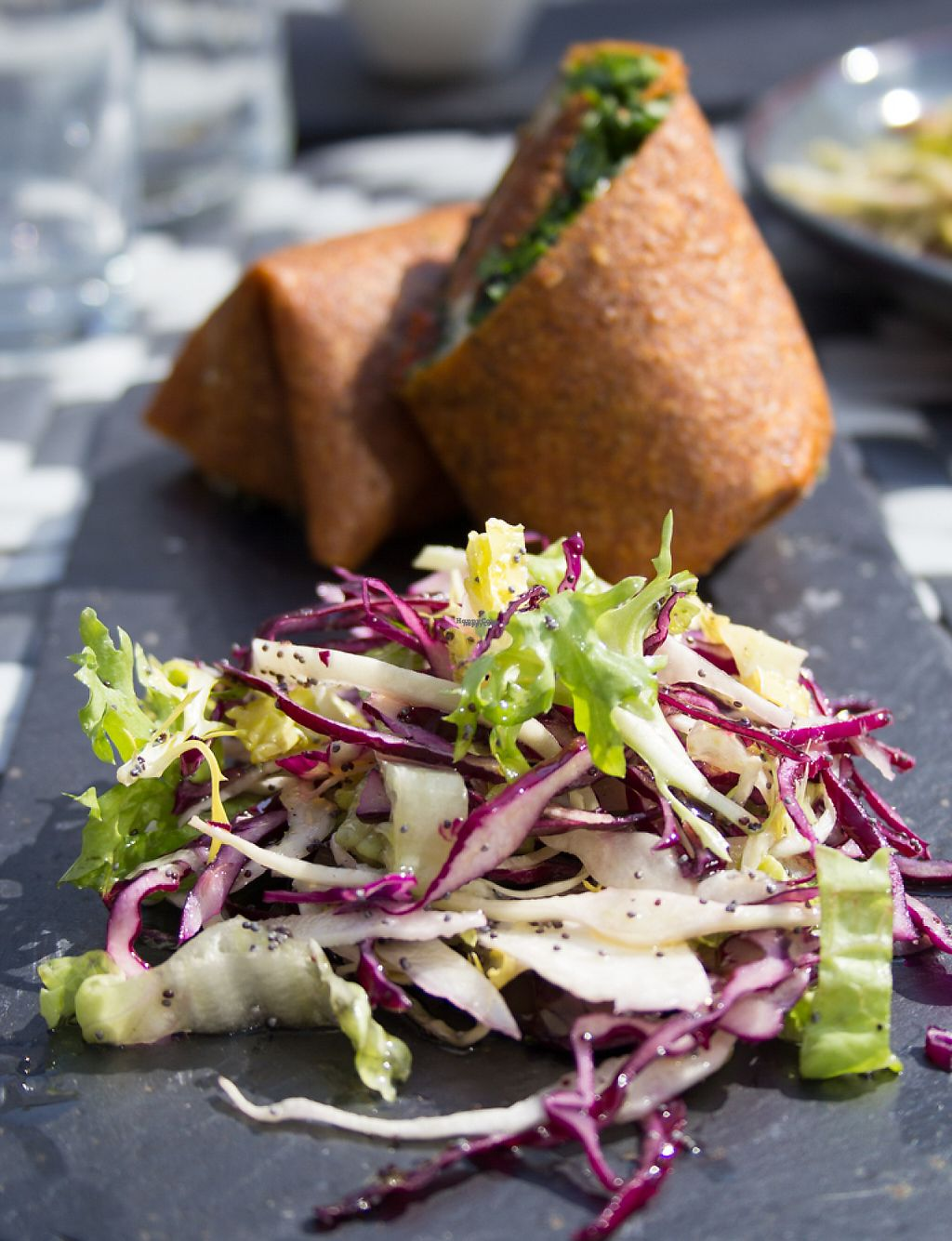"""Photo of CLOSED: Nama Artisan Raw Foods  by <a href=""""/members/profile/loloford"""">loloford</a> <br/>Breakfast wrap and coleslaw <br/> April 17, 2017  - <a href='/contact/abuse/image/36686/249316'>Report</a>"""