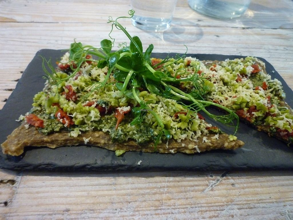 """Photo of CLOSED: Nama Artisan Raw Foods  by <a href=""""/members/profile/lilyfr"""">lilyfr</a> <br/>The delicious pesto pizza! <br/> June 3, 2017  - <a href='/contact/abuse/image/36686/265443'>Report</a>"""