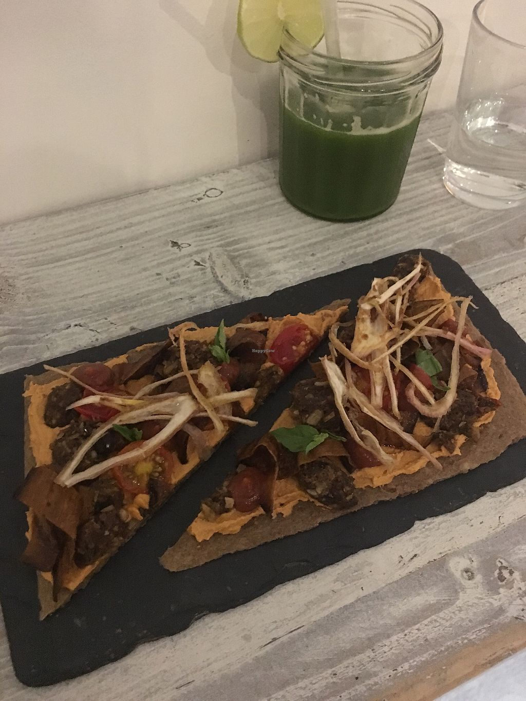 """Photo of CLOSED: Nama Artisan Raw Foods  by <a href=""""/members/profile/BecCarter"""">BecCarter</a> <br/>No Meat Pizza <br/> January 15, 2018  - <a href='/contact/abuse/image/36686/346932'>Report</a>"""