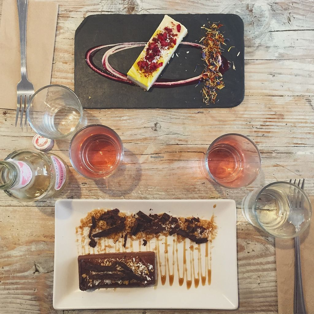 """Photo of CLOSED: Nama Artisan Raw Foods  by <a href=""""/members/profile/alice28"""">alice28</a> <br/>Raw lemon cake and chocolate/salted caramel cake <br/> March 1, 2018  - <a href='/contact/abuse/image/36686/365360'>Report</a>"""