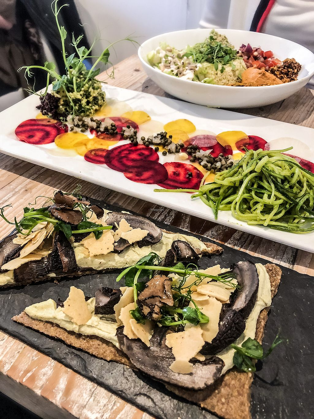 """Photo of CLOSED: Nama Artisan Raw Foods  by <a href=""""/members/profile/emiliepix"""">emiliepix</a> <br/>Brunch for champions! Fungi pizza and Mexican bowl! <br/> March 11, 2018  - <a href='/contact/abuse/image/36686/369449'>Report</a>"""