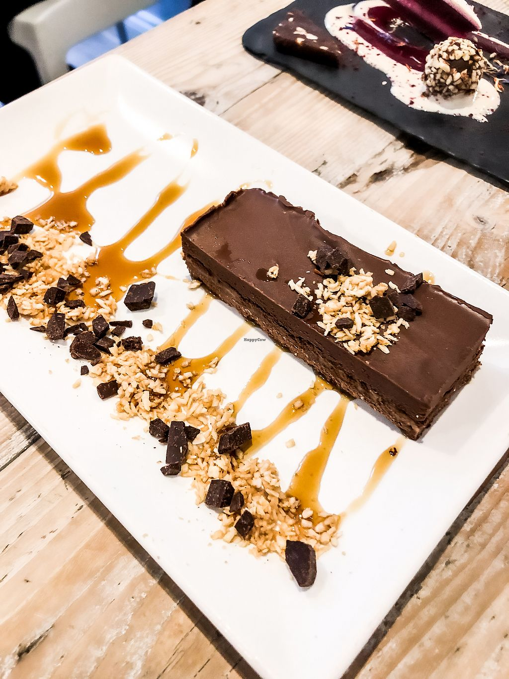 """Photo of CLOSED: Nama Artisan Raw Foods  by <a href=""""/members/profile/emiliepix"""">emiliepix</a> <br/>Have your cake and eat it too! Salted caramel chocolate cake!! <br/> March 11, 2018  - <a href='/contact/abuse/image/36686/369450'>Report</a>"""