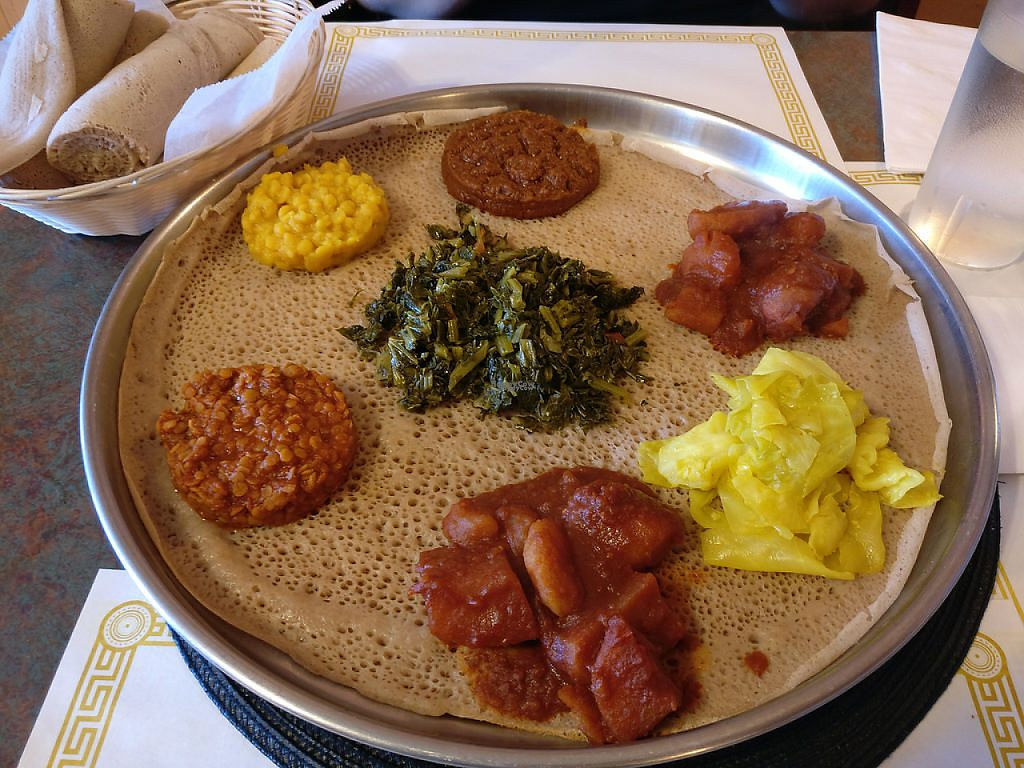 """Photo of Gojo Ethiopian  by <a href=""""/members/profile/Imriela"""">Imriela</a> <br/>Veggie platter <br/> March 21, 2017  - <a href='/contact/abuse/image/36698/239149'>Report</a>"""