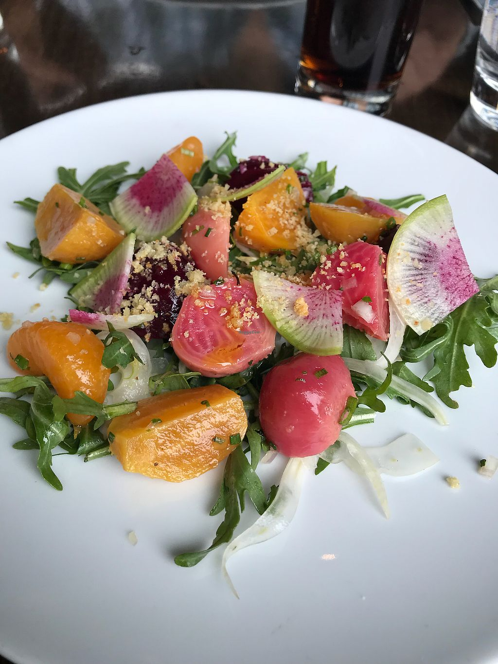 "Photo of Redd Wood  by <a href=""/members/profile/tiffrob"">tiffrob</a> <br/>Beet salad (ordered without the cheese) <br/> January 21, 2018  - <a href='/contact/abuse/image/36708/349513'>Report</a>"
