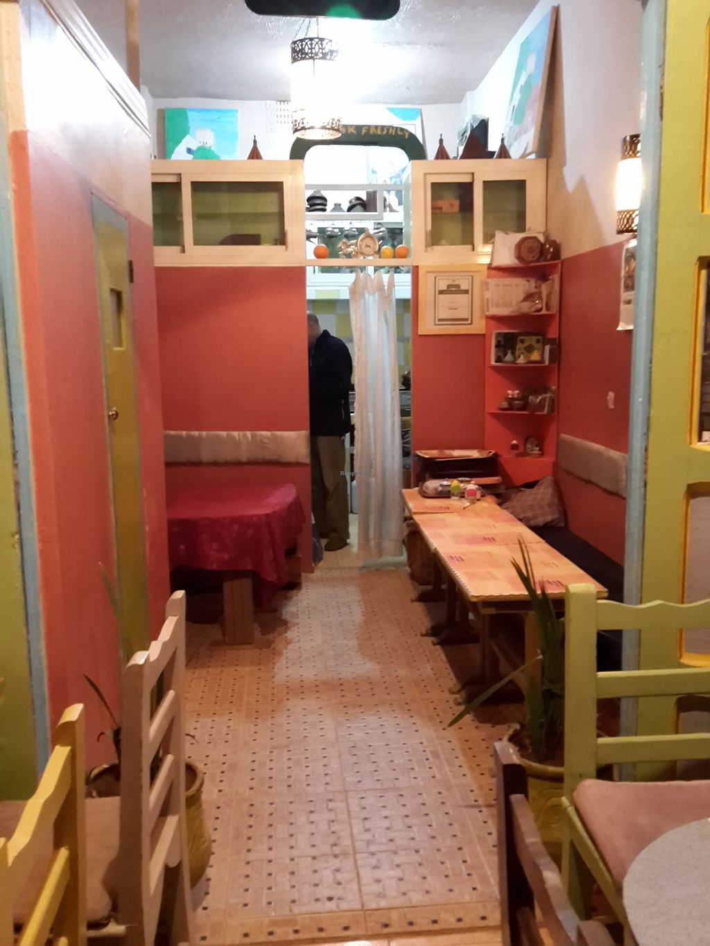 "Photo of Shyadma's Veg Food  by <a href=""/members/profile/OlgaRuu"">OlgaRuu</a> <br/>A tiny kitchen hides behind the pink walls <br/> October 29, 2015  - <a href='/contact/abuse/image/36723/123113'>Report</a>"