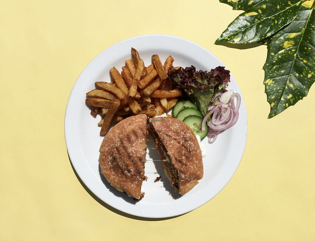 """Photo of The Gallery Cafe  by <a href=""""/members/profile/DianaSerban"""">DianaSerban</a> <br/>Vegan Burger <br/> July 14, 2016  - <a href='/contact/abuse/image/3676/159793'>Report</a>"""