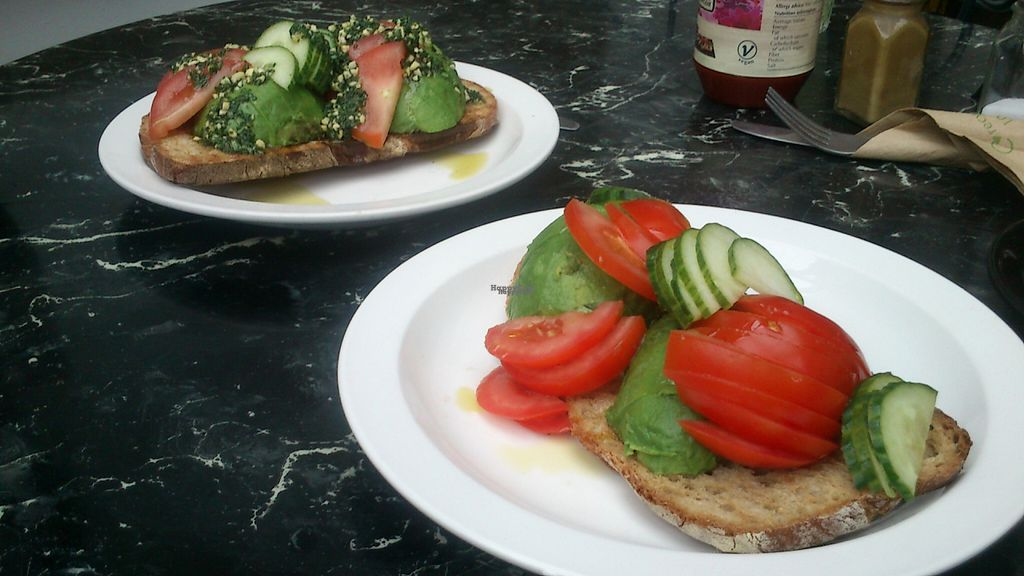 """Photo of The Gallery Cafe  by <a href=""""/members/profile/citizenInsane"""">citizenInsane</a> <br/>Gallery Cafe, avocado on toast (bare in front, regular with pesto behind) <br/> August 16, 2016  - <a href='/contact/abuse/image/3676/169267'>Report</a>"""