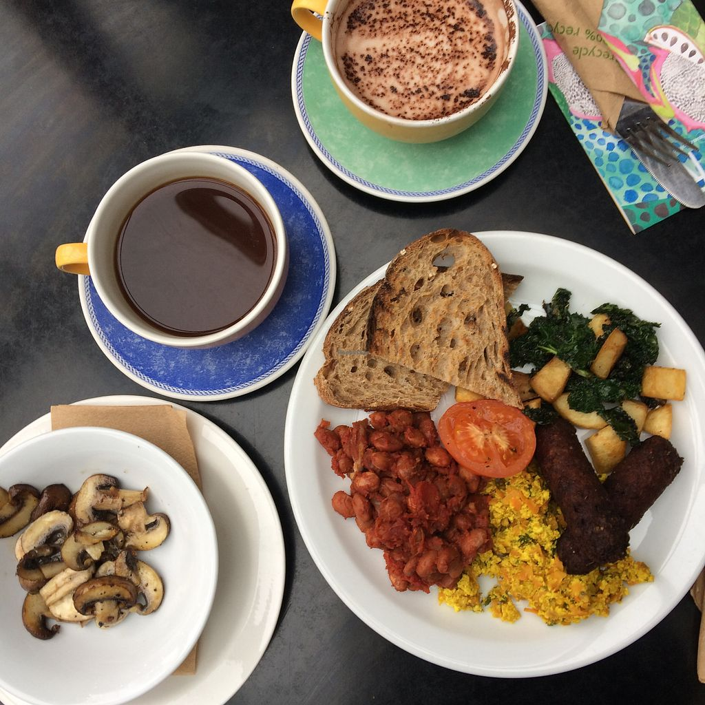 """Photo of The Gallery Cafe  by <a href=""""/members/profile/Nayvee"""">Nayvee</a> <br/>Amazing full english breakfast with great coffee and indulging hot chocolate more on my insta @lajuxx <br/> April 25, 2018  - <a href='/contact/abuse/image/3676/390965'>Report</a>"""