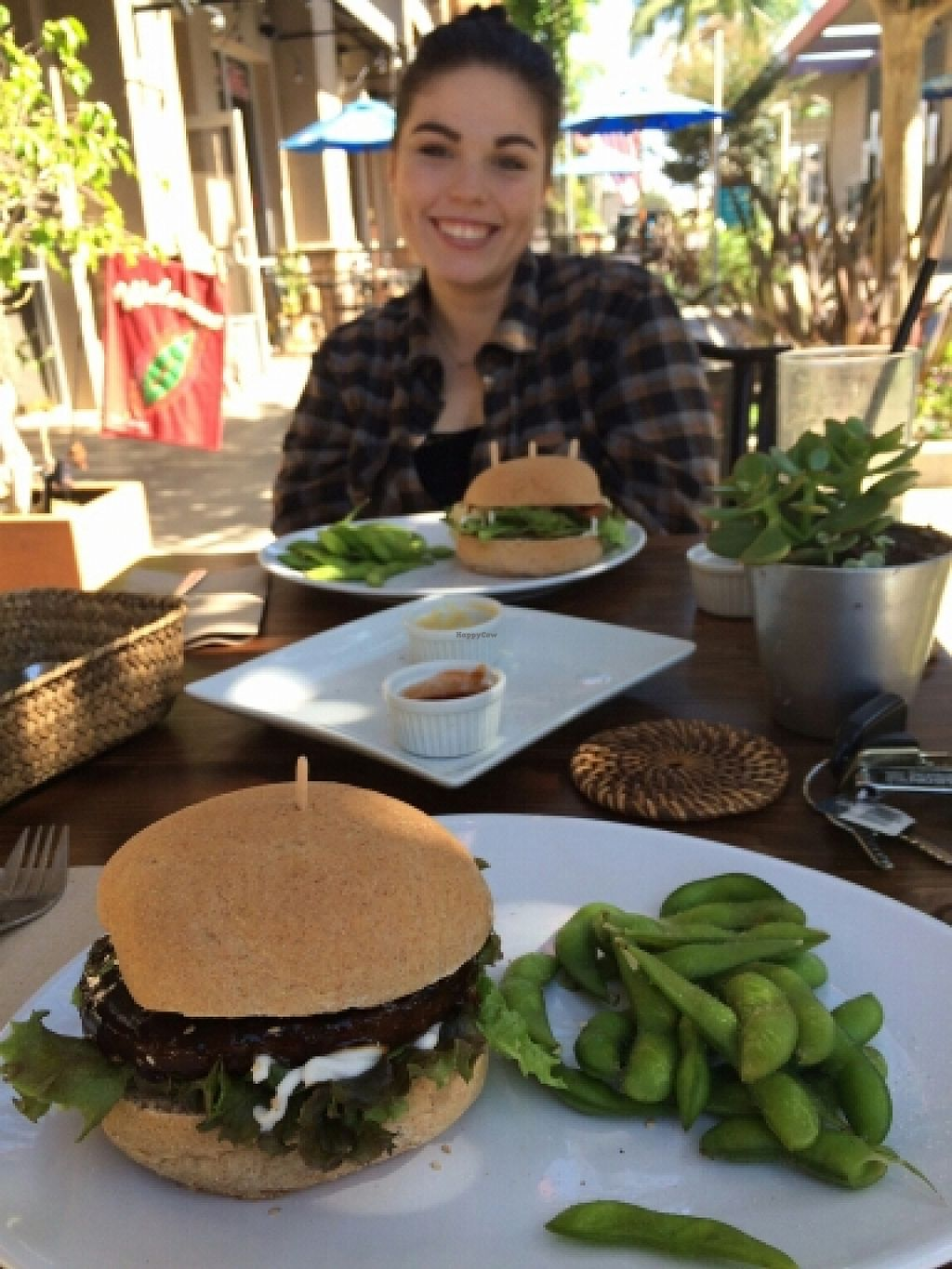 """Photo of VegiLicious  by <a href=""""/members/profile/yourmoderndayhippie"""">yourmoderndayhippie</a> <br/>Teriyaki burger with edamame <br/> March 22, 2016  - <a href='/contact/abuse/image/36781/140937'>Report</a>"""