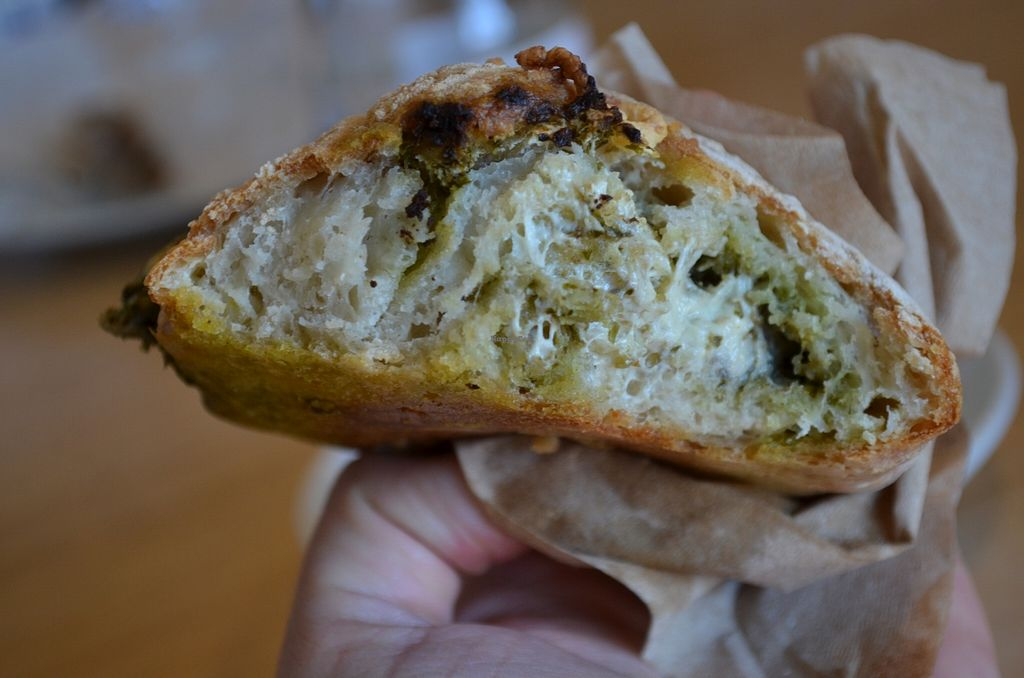 "Photo of Timeless Coffee Roasters and Bakery  by <a href=""/members/profile/alexandra_vegan"">alexandra_vegan</a> <br/>pesto dayia cheese roll (vegan) <br/> April 19, 2016  - <a href='/contact/abuse/image/36793/145336'>Report</a>"