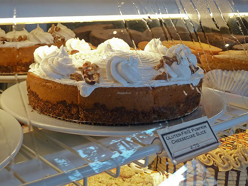 "Photo of Timeless Coffee Roasters and Bakery  by <a href=""/members/profile/mexivegan"">mexivegan</a> <br/>Vegan and Gluten Free Pumpkin Cheesecake <br/> October 19, 2017  - <a href='/contact/abuse/image/36793/316801'>Report</a>"