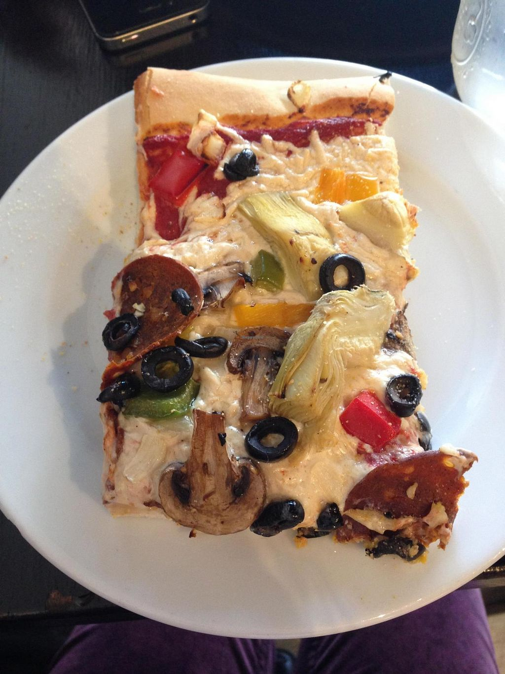 "Photo of Timeless Coffee Roasters and Bakery  by <a href=""/members/profile/jamiemichelle_xvx"">jamiemichelle_xvx</a> <br/>Pizza with vegan pepperoni, fresh garlic, olives, artichoke hearts, onions, bell peppers, and mushrooms <br/> June 5, 2014  - <a href='/contact/abuse/image/36793/71406'>Report</a>"