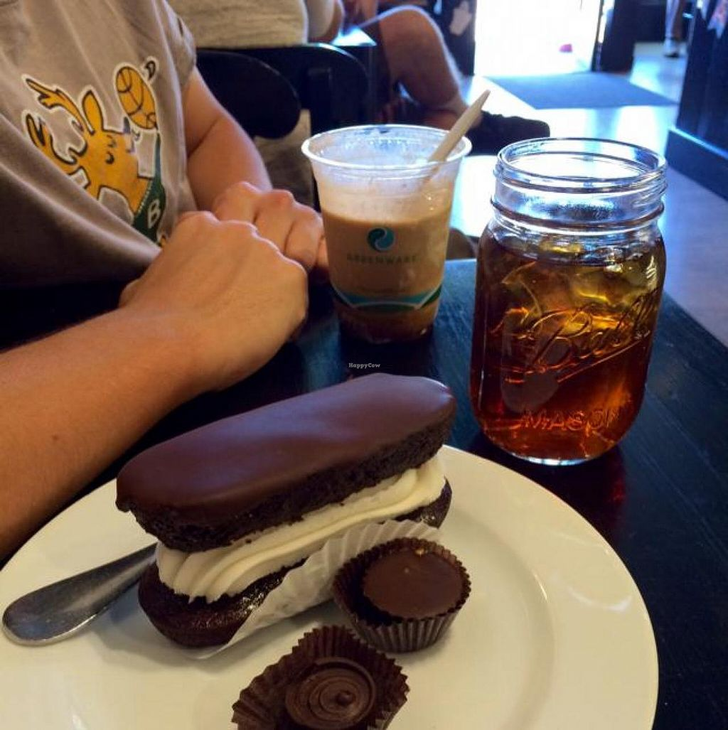 "Photo of Timeless Coffee Roasters and Bakery  by <a href=""/members/profile/tauberl"">tauberl</a> <br/>chocodile, salted caramel and peanut butter chocolates, coffee float, iced tea- all so delicious! <br/> October 3, 2014  - <a href='/contact/abuse/image/36793/82015'>Report</a>"