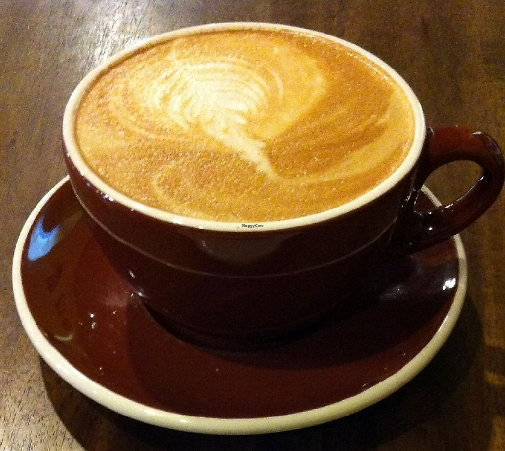 "Photo of Seven Mile Cafe  by <a href=""/members/profile/fltprincess"">fltprincess</a> <br/>Almond milk latte with a vegan cinnamon roll.  Mmmmm <br/> April 19, 2016  - <a href='/contact/abuse/image/36799/227791'>Report</a>"