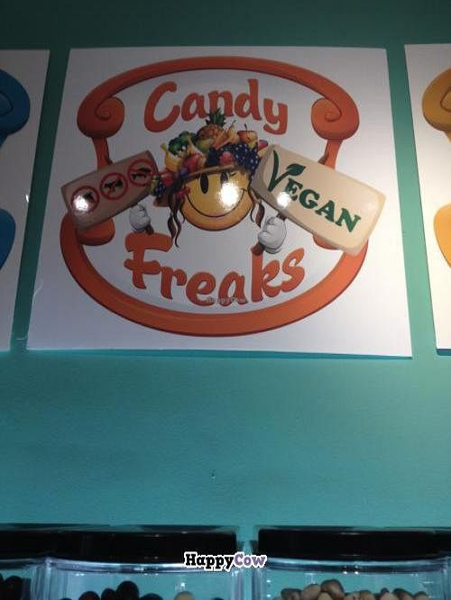 """Photo of Candy Freaks  by <a href=""""/members/profile/vegan_ryan"""">vegan_ryan</a> <br/>Wall logo <br/> October 30, 2013  - <a href='/contact/abuse/image/36800/57579'>Report</a>"""