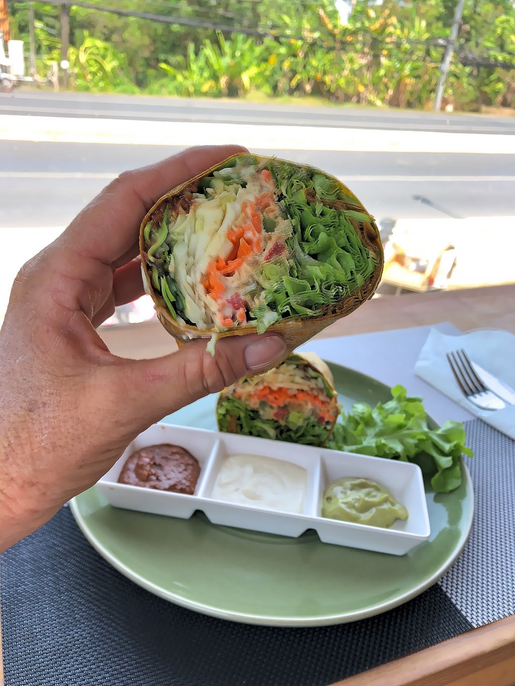 """Photo of Atsumi Raw Cafe  by <a href=""""/members/profile/SoniaGivray"""">SoniaGivray</a> <br/>Burrito, very nice <br/> April 22, 2018  - <a href='/contact/abuse/image/36812/389258'>Report</a>"""