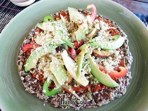 """Photo of Atsumi Raw Cafe  by <a href=""""/members/profile/VeganAngels"""">VeganAngels</a> <br/>Raw Pizza - Fresh and Tasty <br/> February 8, 2013  - <a href='/contact/abuse/image/36812/43990'>Report</a>"""