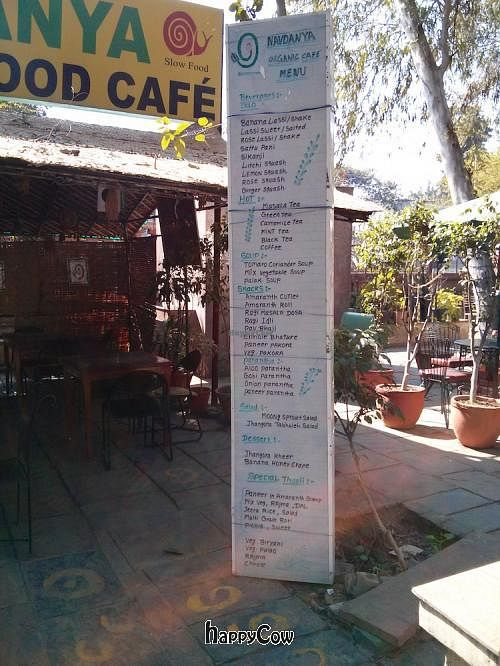 """Photo of Navdanya Organic Food Cafe and Shop  by <a href=""""/members/profile/earthville"""">earthville</a> <br/>Navdanya menu <br/> February 10, 2013  - <a href='/contact/abuse/image/36839/44017'>Report</a>"""