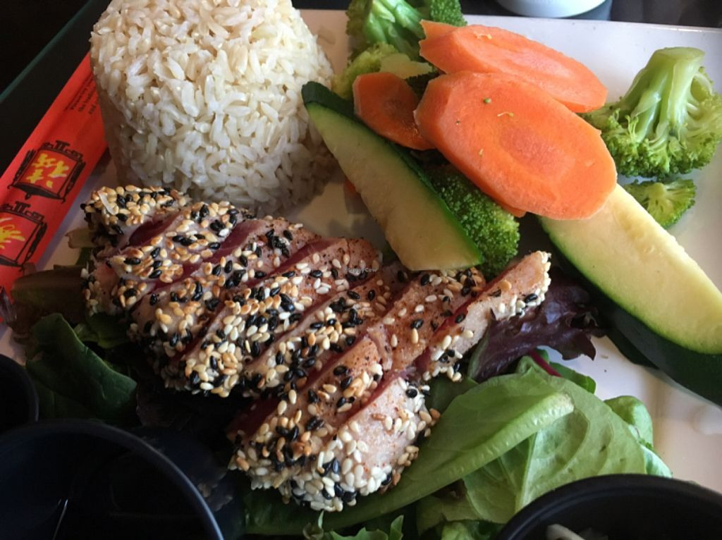 """Photo of Blondies' Bistro  by <a href=""""/members/profile/AnnaWaite"""">AnnaWaite</a> <br/>sesame ahi tuna with ginger brown rice <br/> June 11, 2016  - <a href='/contact/abuse/image/36845/153352'>Report</a>"""