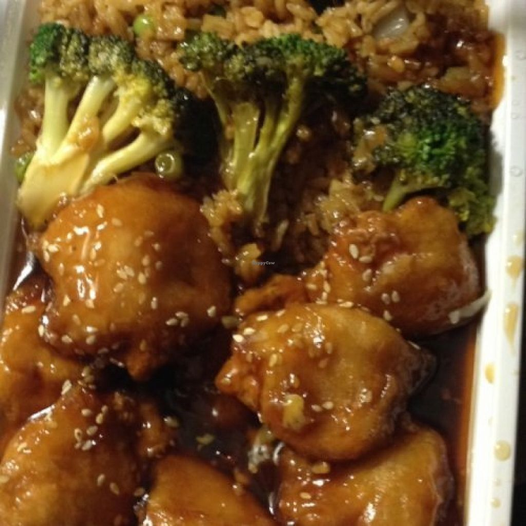 """Photo of Dragon City  by <a href=""""/members/profile/AlexandraPhillips"""">AlexandraPhillips</a> <br/>Vegan sesame chicken <br/> May 25, 2017  - <a href='/contact/abuse/image/36849/262366'>Report</a>"""