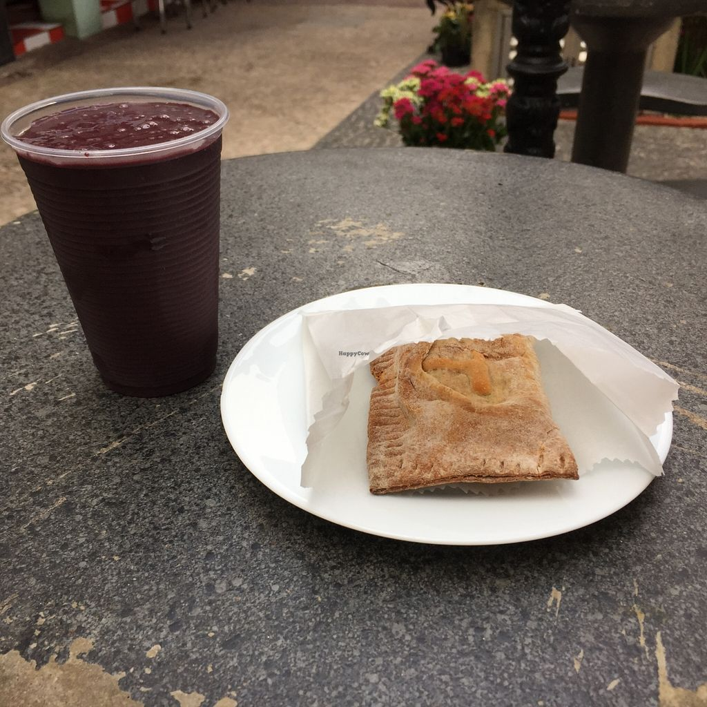 """Photo of Mate  by <a href=""""/members/profile/Paolla"""">Paolla</a> <br/>My choices - acai juice with tofu samosa <br/> September 1, 2015  - <a href='/contact/abuse/image/36859/116093'>Report</a>"""