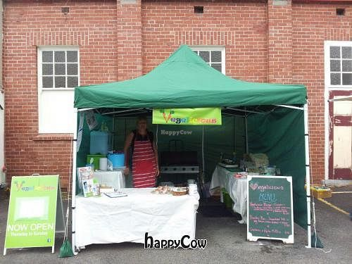 """Photo of Vegelicious  by <a href=""""/members/profile/AdrianaBellemans"""">AdrianaBellemans</a> <br/>Our brand new marquee & BBQ being used for first time at Kingston Market 10th Feb 2013. No animal product ever cooked on this BBQ while we have it   <br/> February 13, 2013  - <a href='/contact/abuse/image/36882/44178'>Report</a>"""