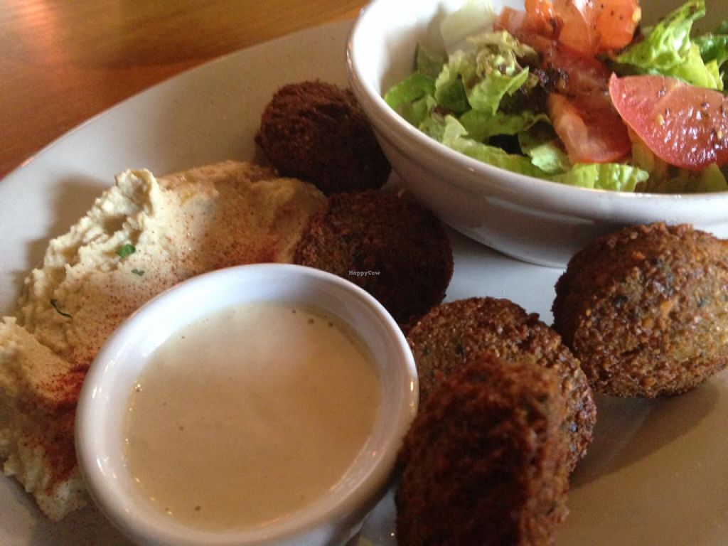 """Photo of Lawrence's Cafe  by <a href=""""/members/profile/calamaestra"""">calamaestra</a> <br/>falafel platter <br/> January 25, 2014  - <a href='/contact/abuse/image/36916/63134'>Report</a>"""